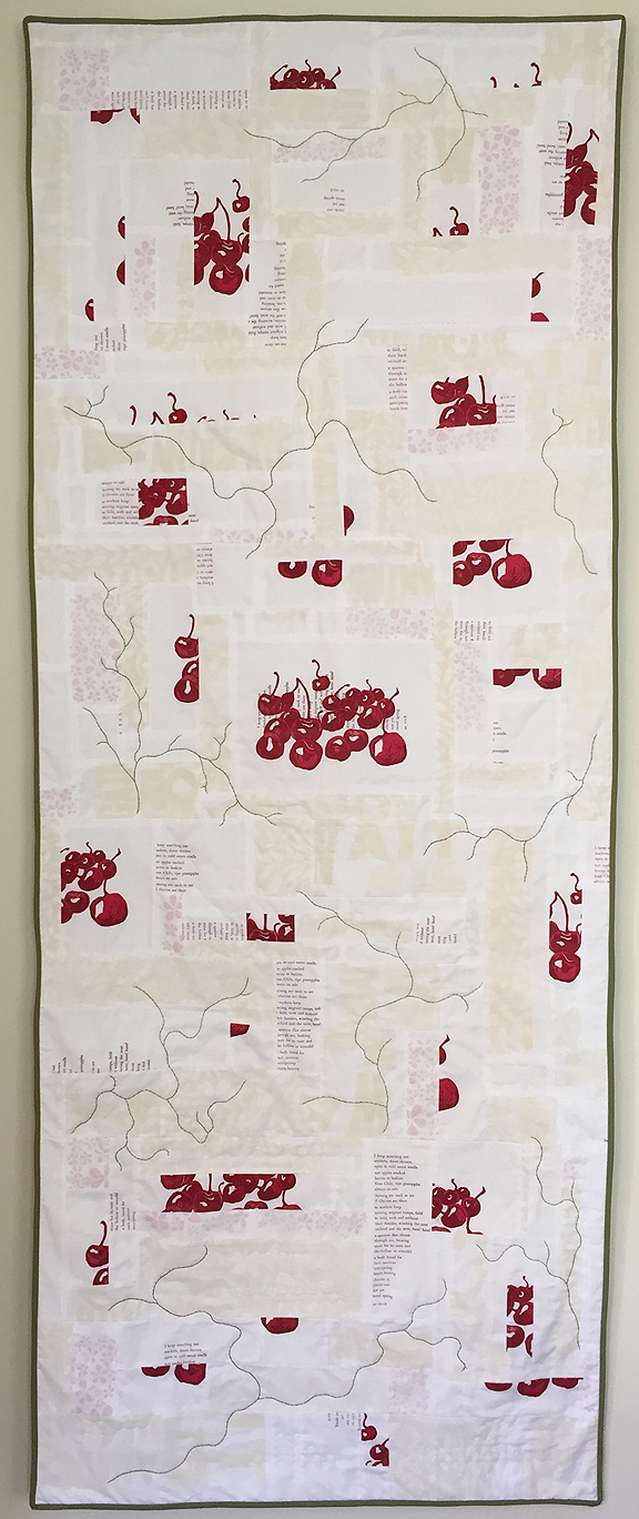 quilt of cherries and poem