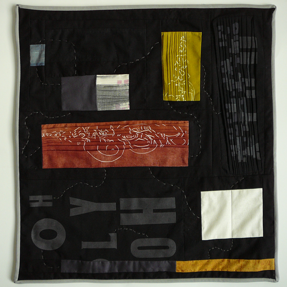 quilt of pleated cloth