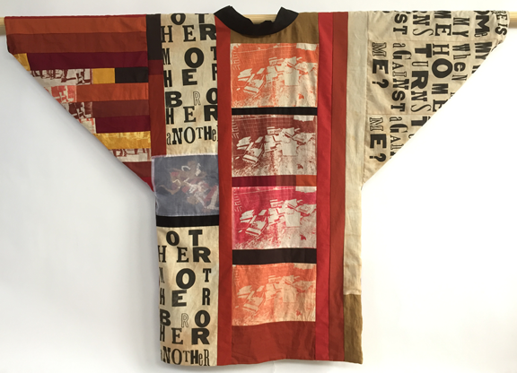 Japanese-style patchwork jacket, back