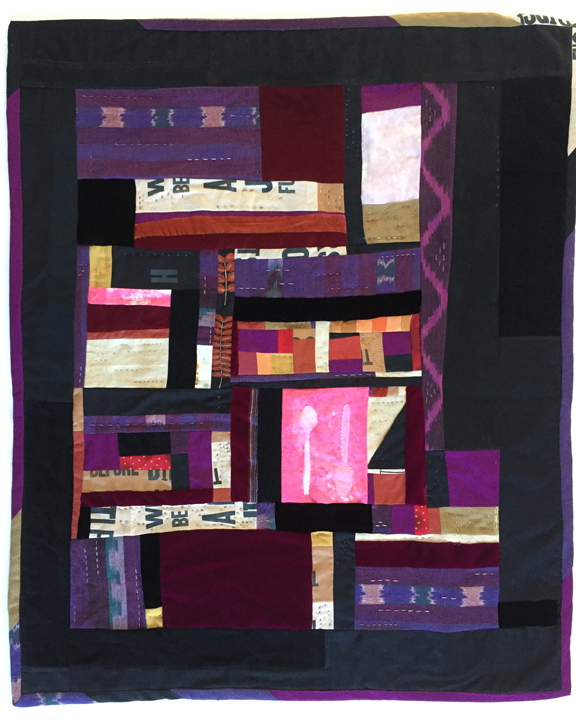pieced quilt with velvet