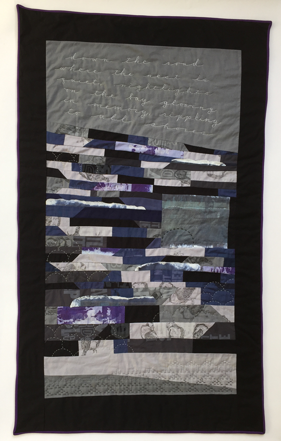 strip quilt like ocean waves